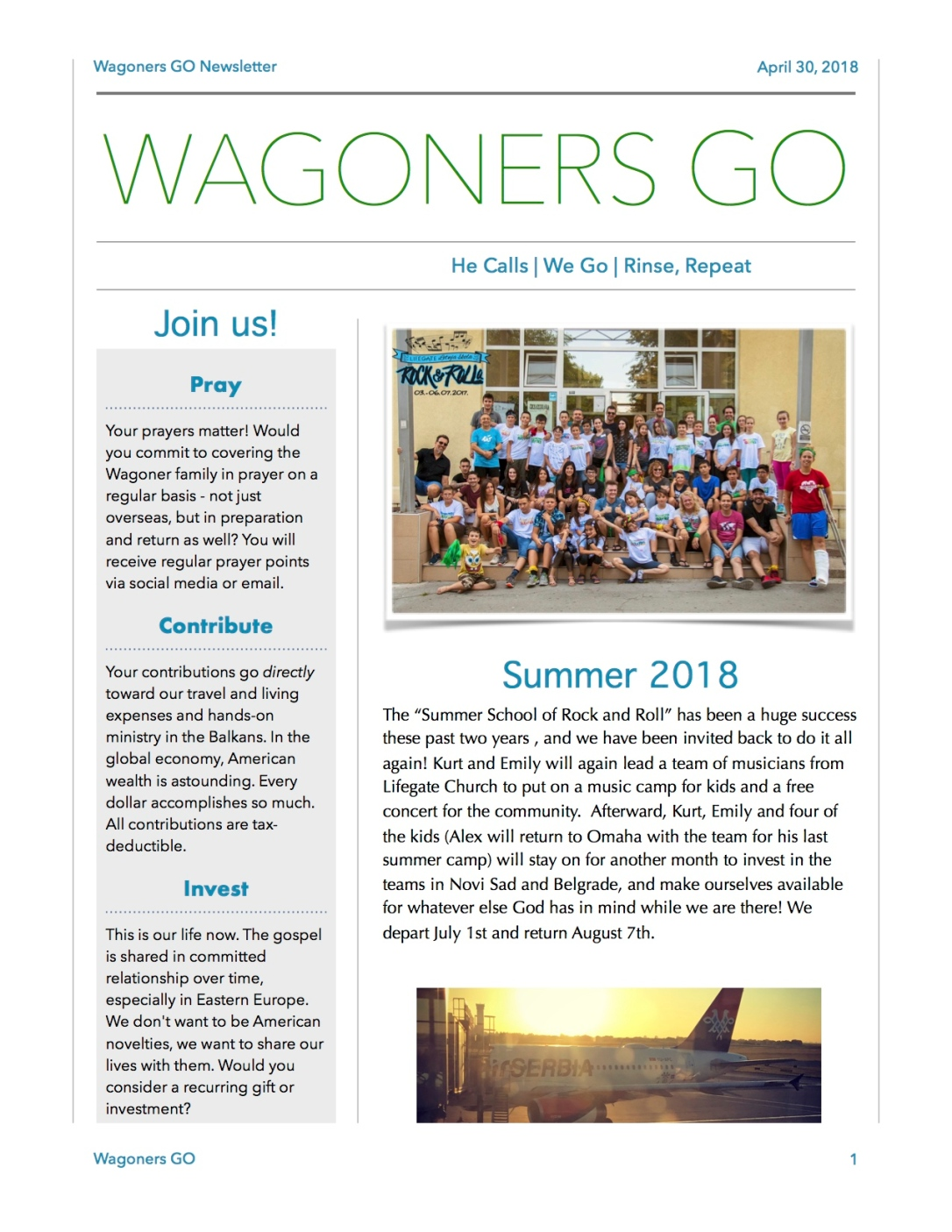 Wagoners GO Newsletter